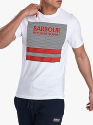 Barbour International Sportster Graphic Print T Shirt White