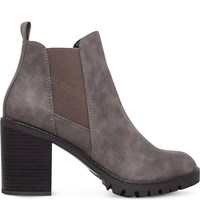 Miss Kg Silent Heeled Ankle Boots Taupe