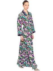 Emilio Pucci Printed Silk Crepe Long Shirt Dress Multicolor