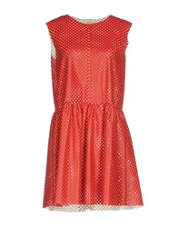 Vicolo Short Dresses Red