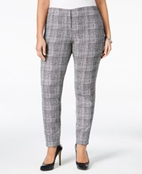 Alfani Plus Size Patterned Skinny Pants Only At Macy's Woven Line