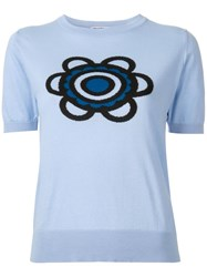Holly Fulton Flora Knitted T Shirt Blue