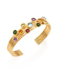 Marco Bicego Jaipur 18K Gold And Mixed Stone Five Strand Cuff Gold Multi