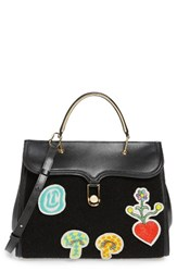 Olympia Le Tan Beaded Patches Satchel