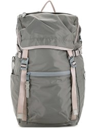 As2ov Fold Over Buckled Backpack Men Nylon One Size Grey