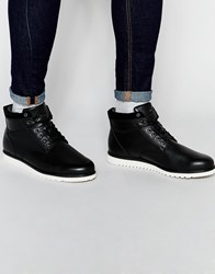 Pull And Bear Pullandbear Lace Up Boots With Contrast Sole Black