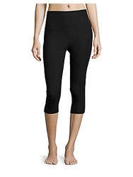 Yummie Tummie Cotton Blend Cropped Leggings Black