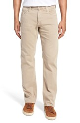 Mavi Jeans Zach Straight Leg Twill Pants Tan Washed