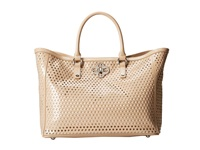 My Flat In London Mademoiselle Tote Nude Tote Handbags Beige