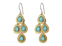 Anna Beck Large Turquoise Teardrop Earrings Sterling Silver 18K Gold Vermeil Earring