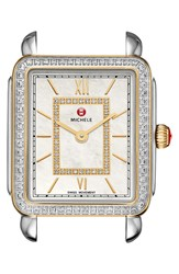 Michele 'Deco Ii' Diamond Dial Watch Case 26Mm X 28Mm Nordstrom Exclusive Silver Gold