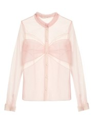 Mary Katrantzou Fosse Tulle Blouse Light Pink