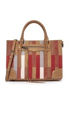 Rebecca Minkoff Patchwork Regan Satchel Tote Sand Patchwork Multi