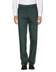 Versace Collection Casual Pants Emerald Green