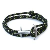 Anchor And Crew All Black Admiral Rope Bracelet