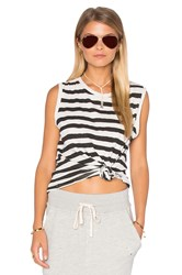Sundry Striped Muscle Tank Black