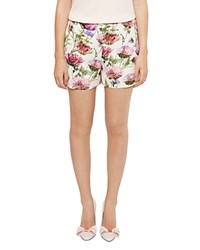 Ted Baker Ruthee Thistle Print Shorts Cream