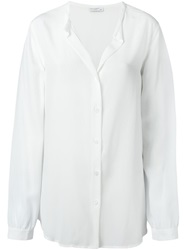 Equipment Collarless Shirt White