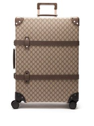 Gucci X Globe Trotter Medium Gg Supreme Suitcase Brown Multi