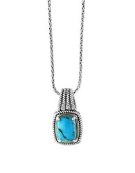 Effy Turquoise 18K Yellow Goldplated And Sterling Silver Pendant Necklace