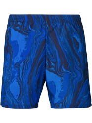 La Perla Plain Swim Shorts Polyester Blue