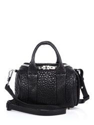 Alexander Wang Rockie Mini Pebbled Leather Duffel Bag Black
