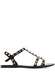 Valentino Garavani 10Mm Rockstud Pvc Sandals Black