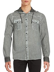 Cohesive And Co. Nathan Oil Hooded Sportshirt Oil Grey