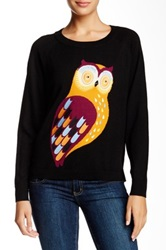 French Connection Bright Owl Wool Sweater Black