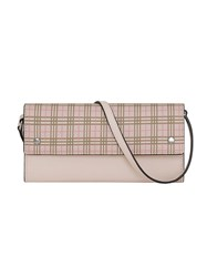 Burberry Small Scale Check Wallet With Detachable Strap Pink And Purple