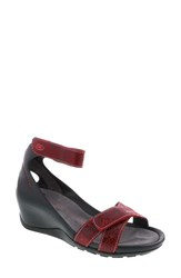Wolky Do Wedge Sandal Red Suede