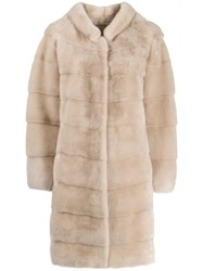 Manzoni 24 Layered Panels Coat Neutrals