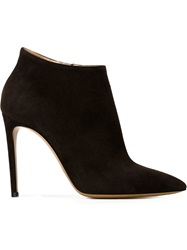 Casadei Pointed Toe Ankle Boots Brown