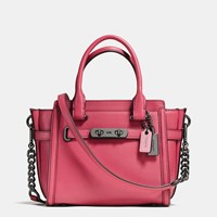 Coach Swagger 21 In Glovetanned Leather Dk Rouge