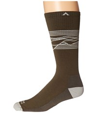 Wigwam West Rim Pro Olive Men's Crew Cut Socks Shoes