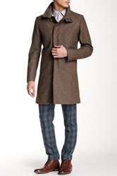 Tiger Of Sweden Leonard 5 Wool Blend Coat Brown