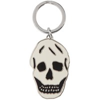 Alexander Mcqueen White And Black Skull Keychain