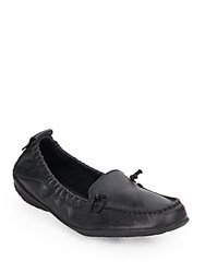Hush Puppies Ceil Slip On Leather Loafers Black
