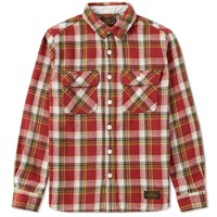 Neighborhood Cabella Check Shirt Red