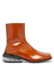 Maison Martin Margiela Tabi Bounce Split Toe Leather Boots Brown
