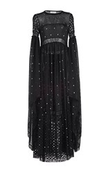 Sonia Rykiel Mesh And Lace Full Length Dress Black
