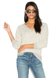 Three Dots V Neck Sweater Gray
