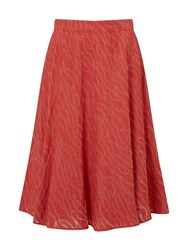 Eastex Burnout A Line Skirt Red