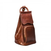 Maxwell Scott Bags Tan Leather Shoulder Backpack