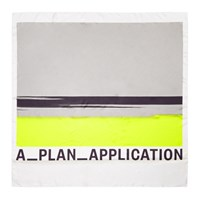 A Plan Application A_Plan_Application Grey And Yellow Silk Logo Scarf