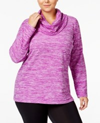 Ideology Plus Size Cowl Neck Space Dyed Fleece Top Only At Macy's Push It Purple