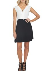 1.State Women's Colorblock Fit And Flare Dress