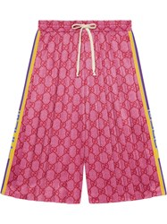 Gucci Gg Technical Jersey Shorts Pink