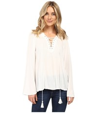 Brigitte Bailey Gianna Bell Sleeve Top Off White Women's Clothing