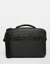 Calvin Klein Laptop Messenger Bag Black